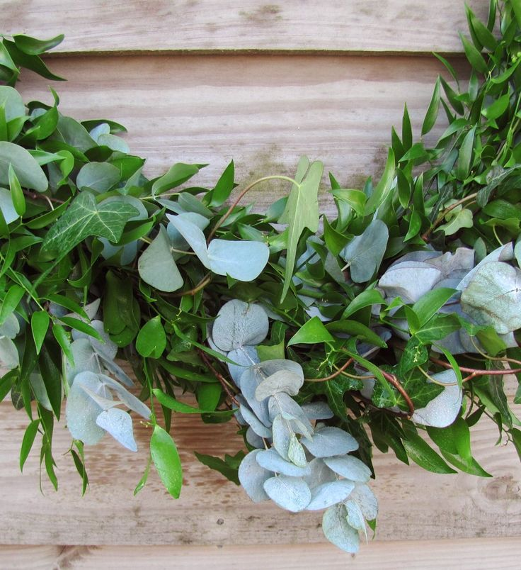 Mixed Foliage Garland Fresh Soft Ruscus Ivy Variegated