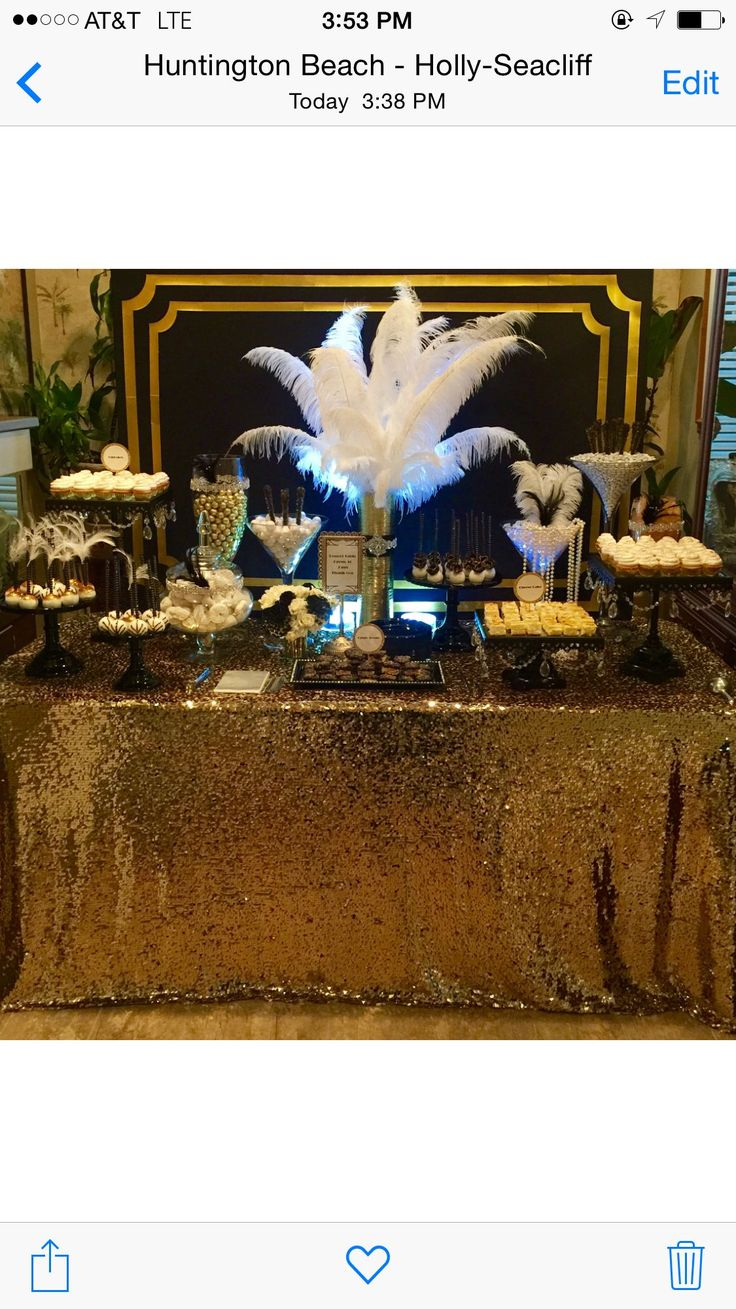 Nice 37 Awesome of 1920s Party Decorations Ideas http://www.vintagetopia.co/2017/12/09/37-awesome-1920s-party-decorations-ideas/ As soon as you've produced a theme, you will need to create invitations for the guest list. The theme does not need to dominate a complete event. Therefore, it is often the first piece of information you give to your guests.