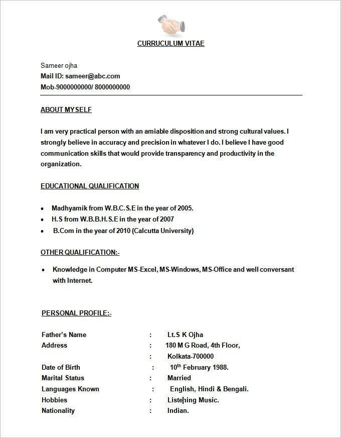Open Office Resume Templates In 2021 Microsoft Word Resume Template Resume Format Job Resume Format