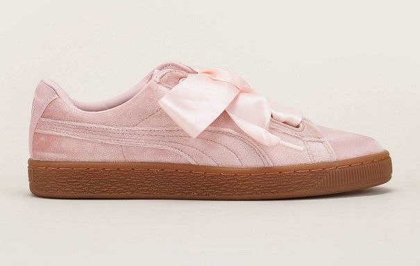 Puma Heart VS Wn's Sneakers en velours lacets en satin rose