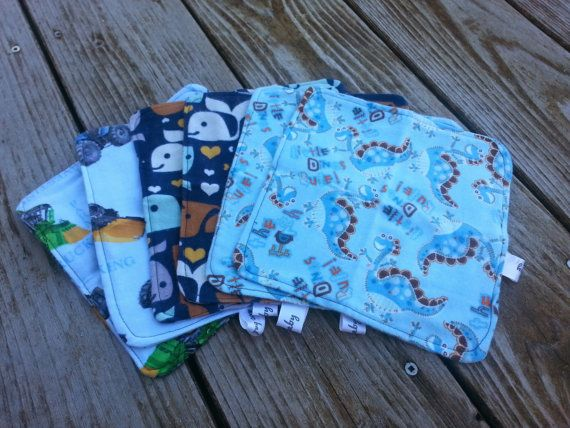 Flannel Baby Wipes by abcbaby123 on Etsy, $10.00