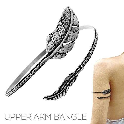 arm cuff armband in silver tone