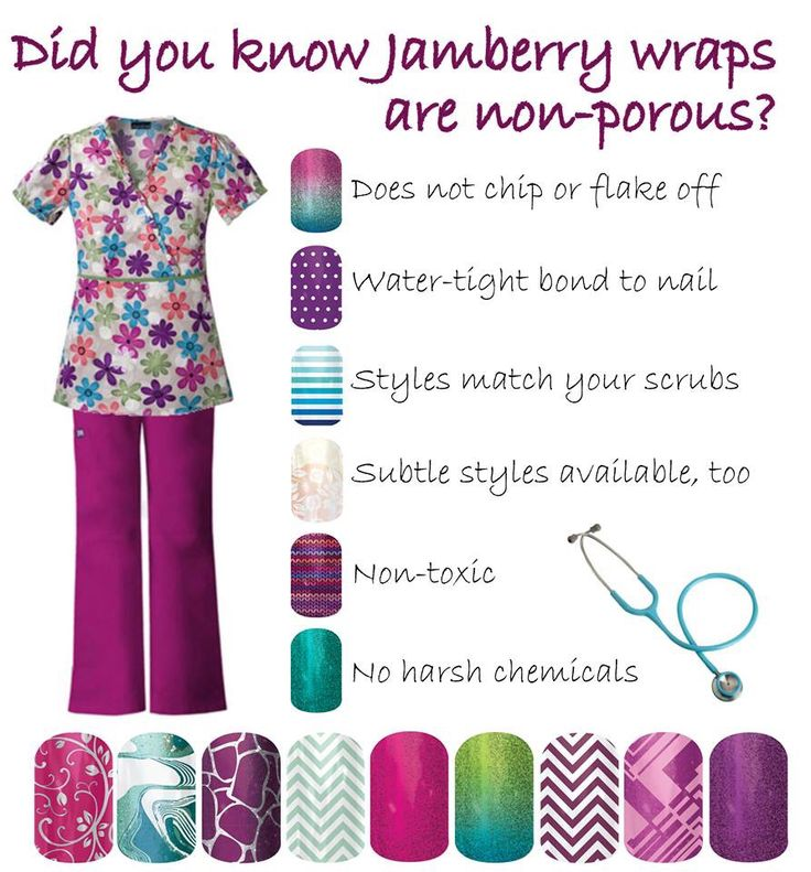 Nurses love to get their nails done but can't because of hospital rules, well... Jamberry can help with that!