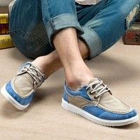 A new spring color trend of Korean men's casual shoes men's canvas shoes for low permeability in male shoe