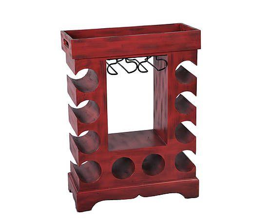 винный столик - металл - текстура дерева - Ш63 х В45