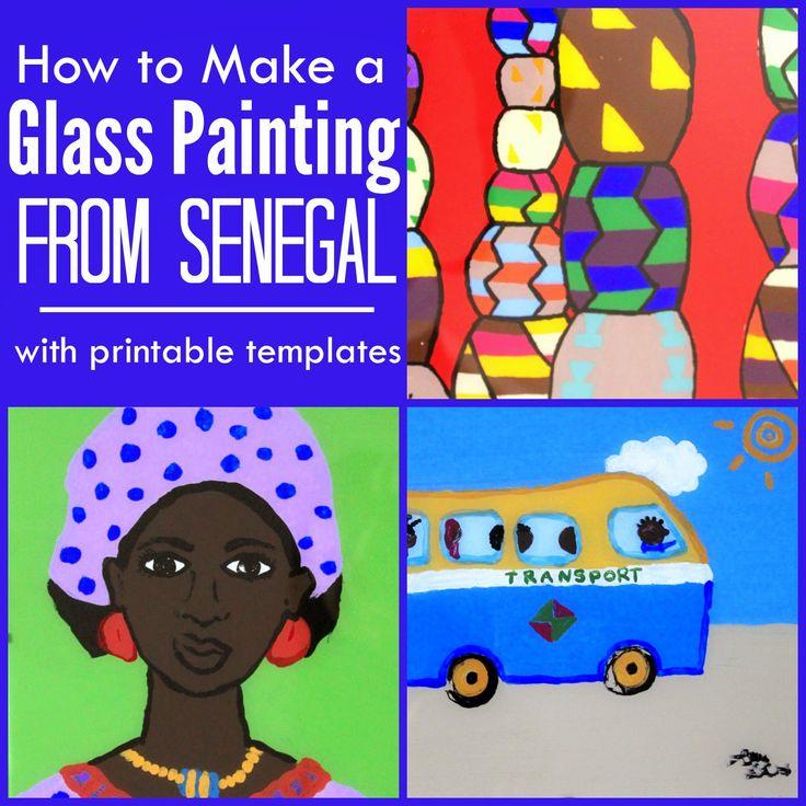"""Peinture sur verre """"souwer"""" en wolof - Sénégal Afrique activité enfant"""