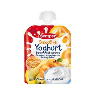 Semper yoghurt smoothie m. abrikos/banan- 1 stk
