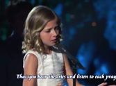 "Young Girl's Unbelievable Voice Silences a Room - Simply Beautiful ♥  Jackie Evancho's Unbelievable Voice Silences a Room: ""To Believe,"" a song written by Jackie Evancho's uncle, is about praying for those less fortunate in the world. So sit back and let this beautiful performance remind you of what's important in life."