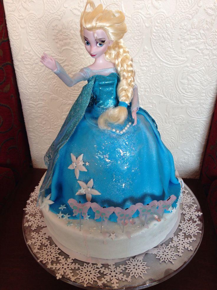 Disney's Elsa doll cake from the movie Frozen