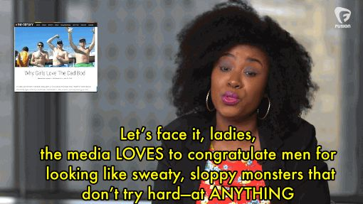 "In her parody, comedian Akilah Hughes explains why ""dad bod"" is considered attractive, but ""mom bod"" isn't."
