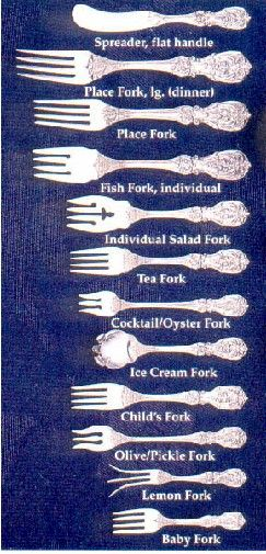 When you earn all that money you get new rich neighbors and share a whole new Etiquette for formal & business dining. Know your forks! Don't look cheap.