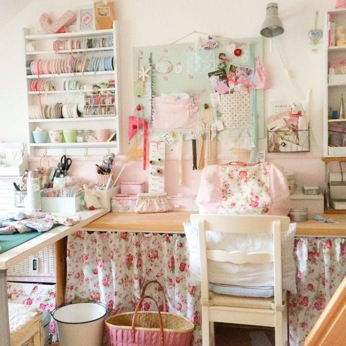 1326 best art craft studios images on pinterest work for Shabby chic craft room