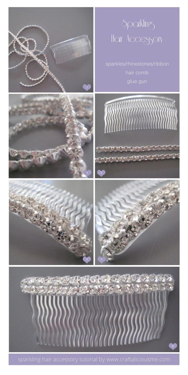 craftaliciousme: Hair accessory DIY {Winter Wedding Special}