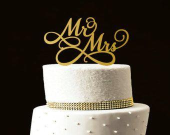 Benutzerdefinierte Hochzeitstorte Topper von LASERWORLD auf Etsy