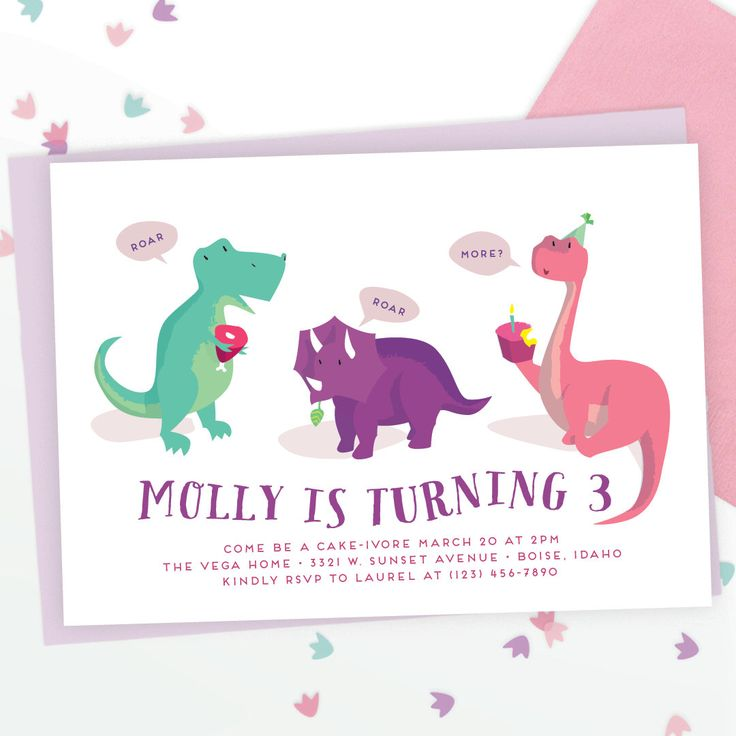 best 25+ girl dinosaur birthday ideas only on pinterest | dinosaur, Birthday invitations