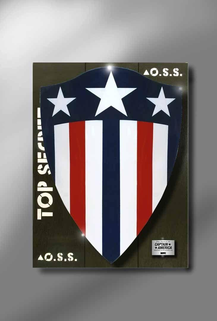MARVEL CAPTAIN AMERICA 1940's HEATER STYLE LE SHIELD
