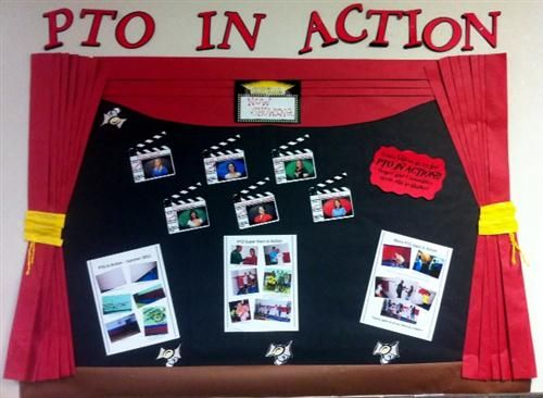 PTO Bulletin Board Picture | Click on the link above to check out PTO in Action in the Brockett Gym ...