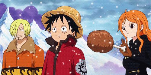 One Piece - Luffy, Nami and Sanji Gif ~ Can we all take a moment to appreciate this?
