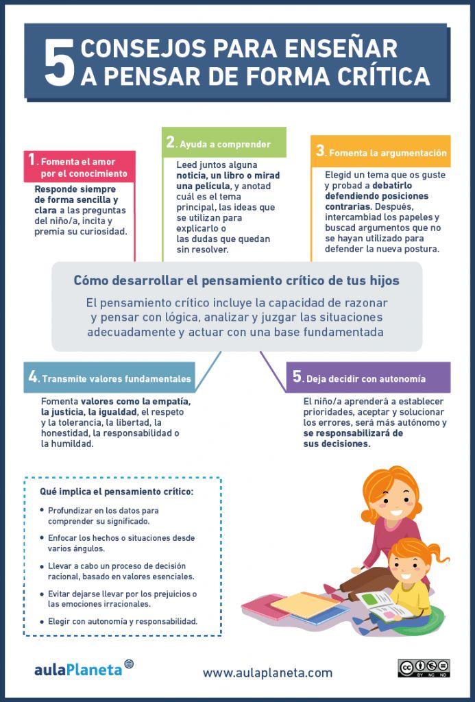 Pensamiento Crítico - 5 Recomendaciones para Fomentarlo entre tus Alumnos | #Infografía #Educación