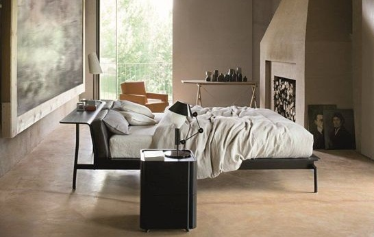bed in middle of room mi casa es su casa pinterest. Black Bedroom Furniture Sets. Home Design Ideas