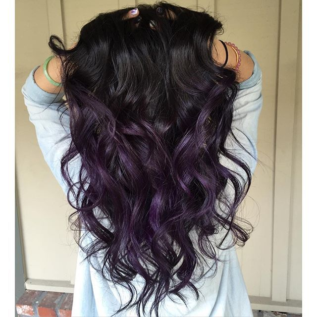 black violet ombre hair - photo #13