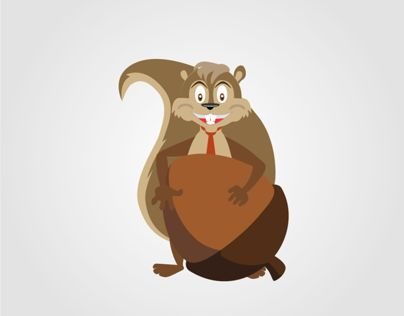 "Character Design @Behance-project: ""Happy Squirrel"" https://www.behance.net/gallery/8142681/Happy-Squirrel"