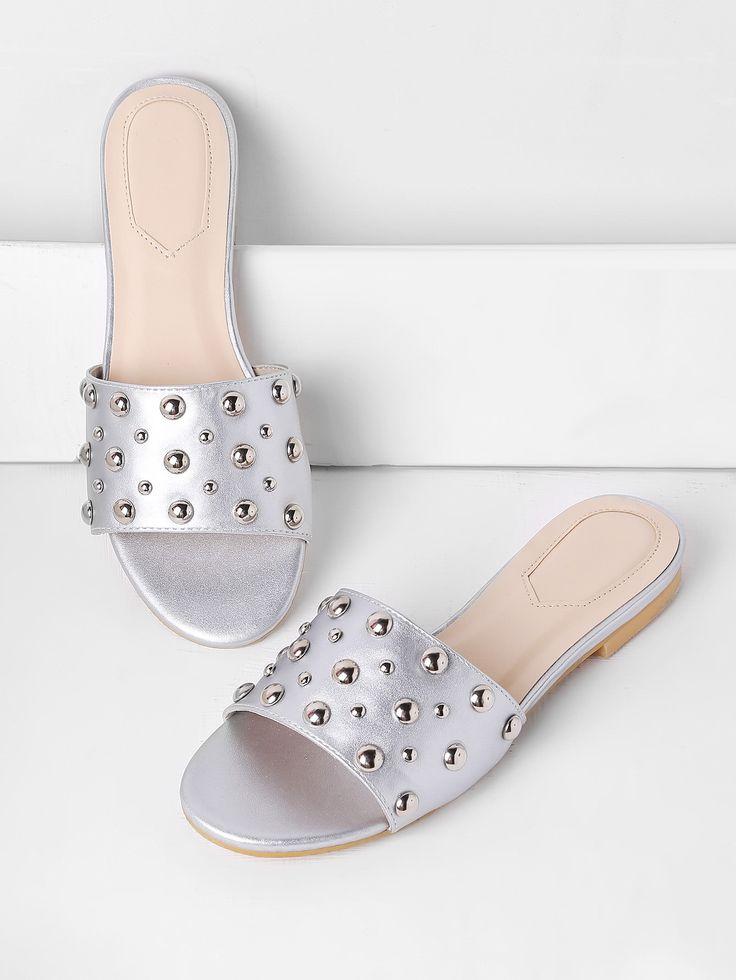 Shop Beaded Detail Flat Sandals online. SheIn offers Beaded Detail Flat Sandals & more to fit your fashionable needs.