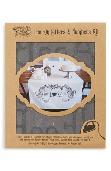 Tin Parade Iron-On Letters & Numbers Kit available at #Nordstrom