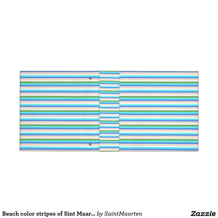 Beach color stripes of Sint Maarten notebook Binder