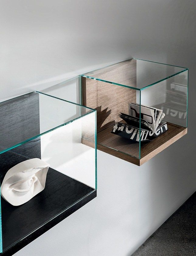 Wall-mounted wood and glass retail display case NEST WALL VERSION | Retail display case by Sovet italia