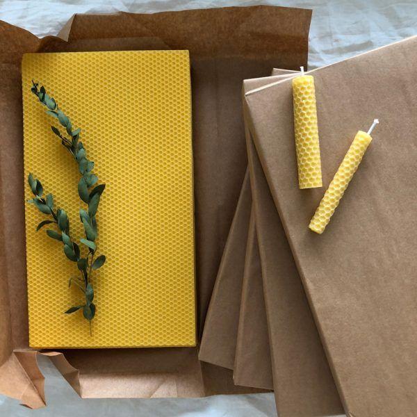 Bienenwabenplatten Dochte Zum Kerzen Drehen Bienen Waben