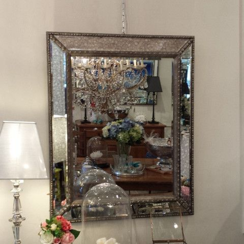 Mirror with Mirror Edge #mirror #furniture #homedecor #interiordecorating #custommade #french