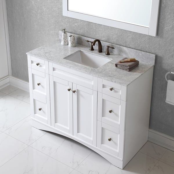 Virtu Usa Elise 48 Inch Single Sink, Bathroom Vanities With Tops Single Sink