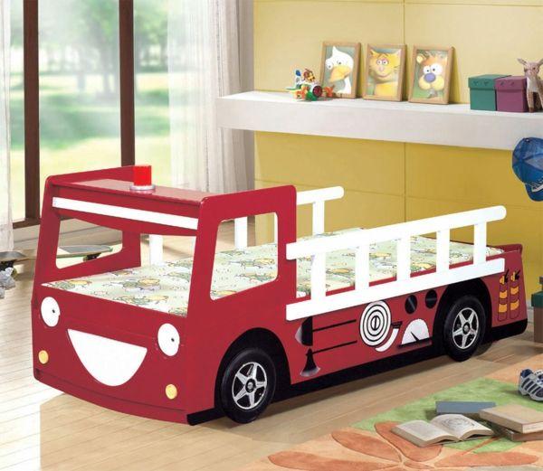 Kinderbett selber bauen auto  Die besten 25+ Feuerwehrbett Ideen auf Pinterest | Kura bett ...