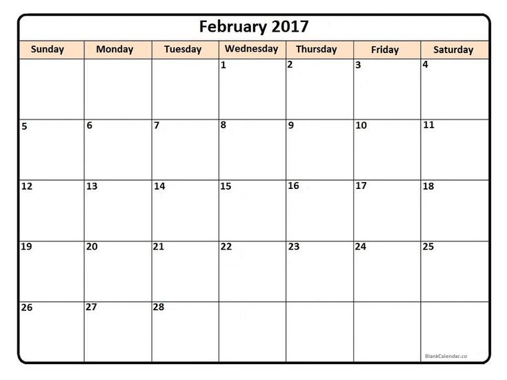 Best 25+ February 2017 calendar printable ideas on Pinterest - printable calendar template