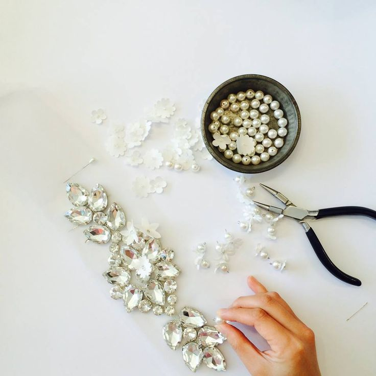 In the process of creating a bejeweled headband!