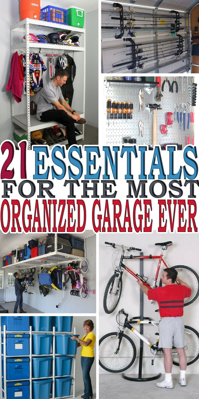 Organizing your garage is not an easy task. Here are 21 of the best garage organization ideas to keep your garage organized.