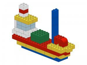 Met stappenplan:Duplo vehicle - Fish boat http://www.pinterest.com/ingridverschell/educatief-speelgoed/