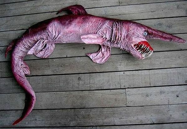 Goblin Shark: Goblin sharks inhabit around the world at depths greater than 100 m (330 ft), with adults found deeper than juveniles. Given the depths at which it lives, the goblin shark poses no danger to humans