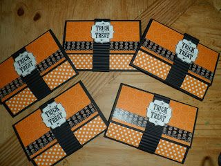 Creations by Louise: Halloween Cards, Card Money Holders, Gift Cards, Cardmaking Gift, Trick Or Treat, Card Ideas, Gift Card Holders