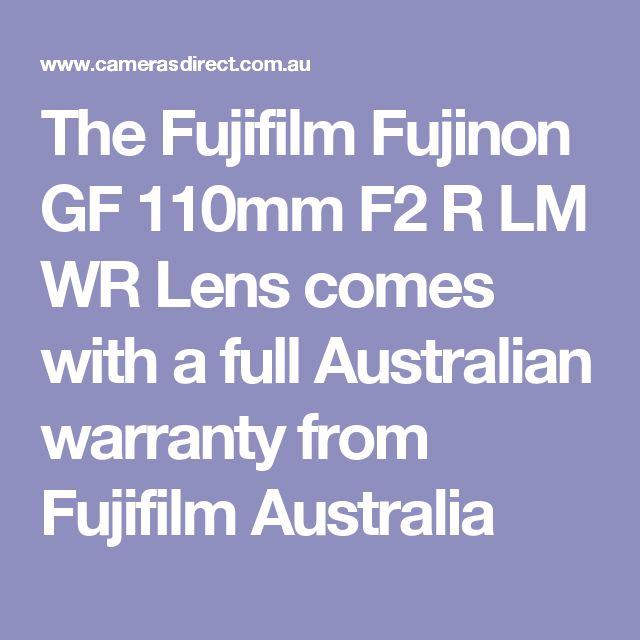The Fujifilm Fujinon GF 110mm F2 R LM WR Lens comes with a full Australian warranty from Fujifilm Australia