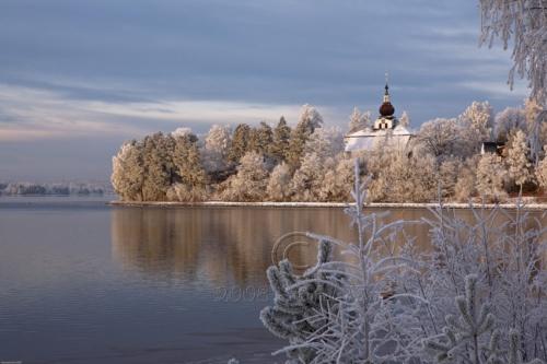 River Dalälven and Church of Leksand