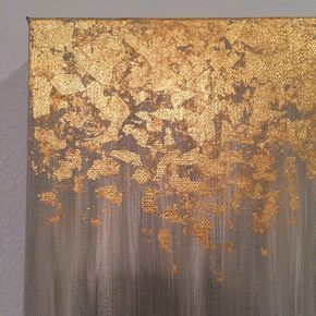 Gold leaf painting abstract gold leaf painting von PaintAndPattern