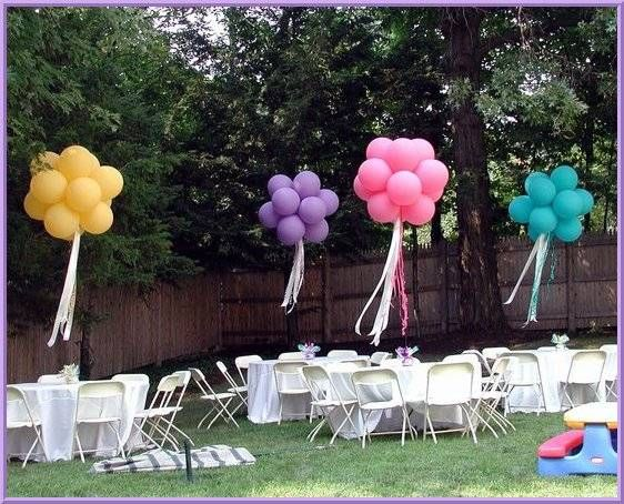 26 best images about outdoor balloon decor on pinterest for Balloon decoration birthday party chennai