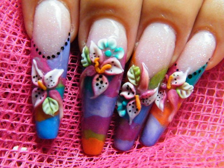 images of 3D nail art   Nail art: 3d nail art design (liking the - 91 Best 3d Nail Art Images On Pinterest 3d Acrylic Nails, 3d