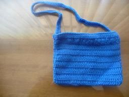 Crochet Blue Purse $10.00