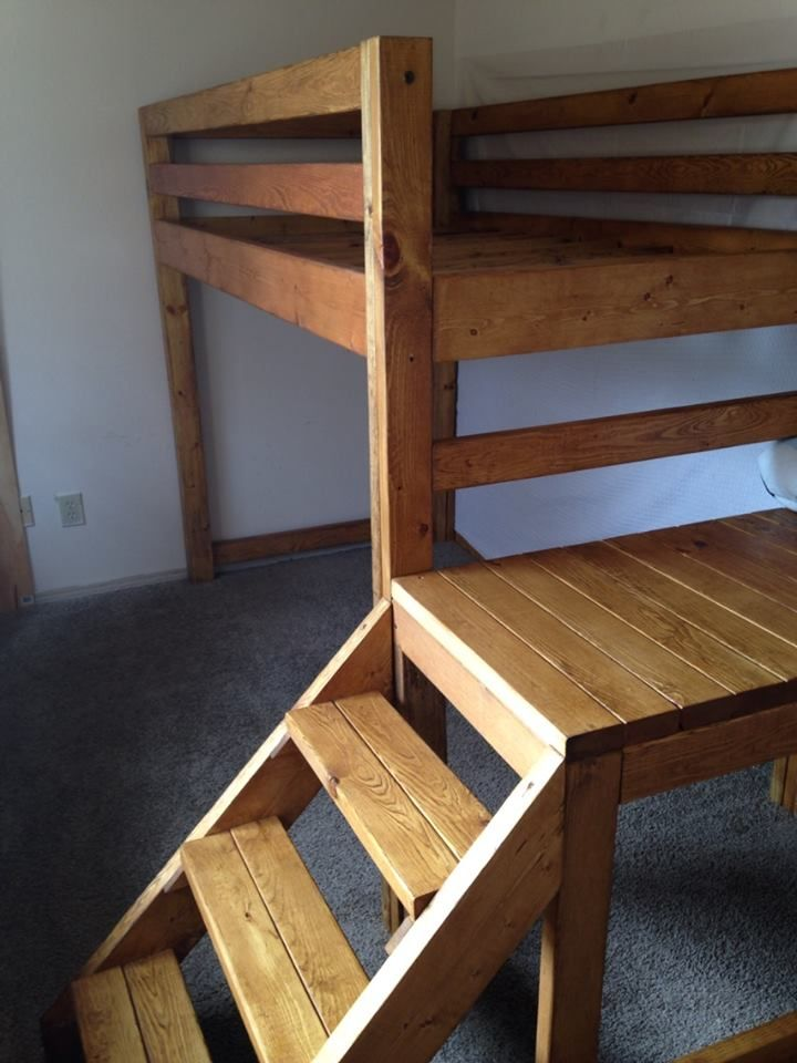 Custom Twin Loft Bed With Stairs Reserved For Allison