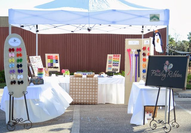 the Paisley Ribbon, craft show display, craft booth, booth display, hair bows, hair bow holders, hair accessories, bizarre booth