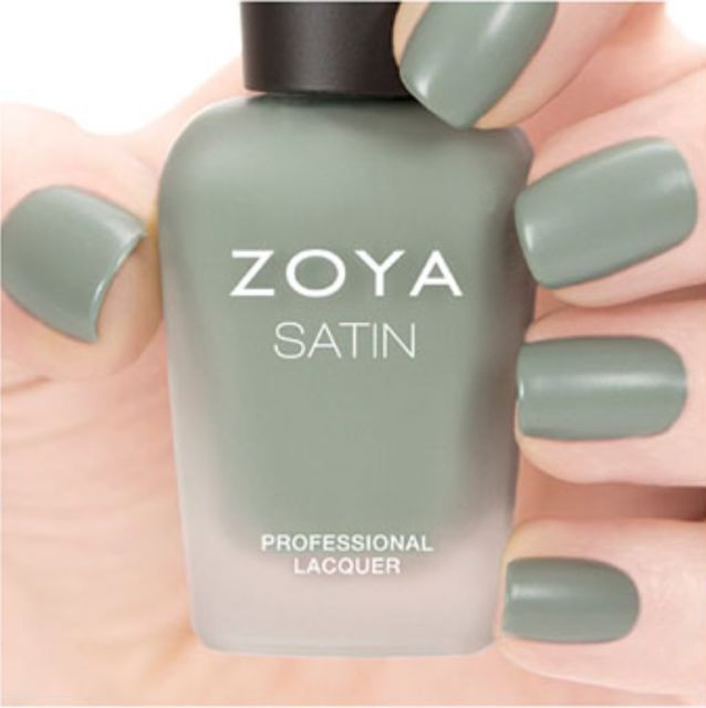 ZOYA ZP781 SAGE Naturel Satins Collection ~ mossy sage matte nail polish *NEW   …