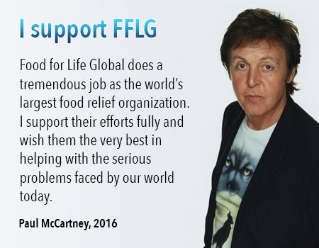 Paul McCartney Loves What Food for Life Global is doing